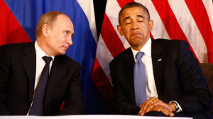 US president Obama meeting with Russian president Putin