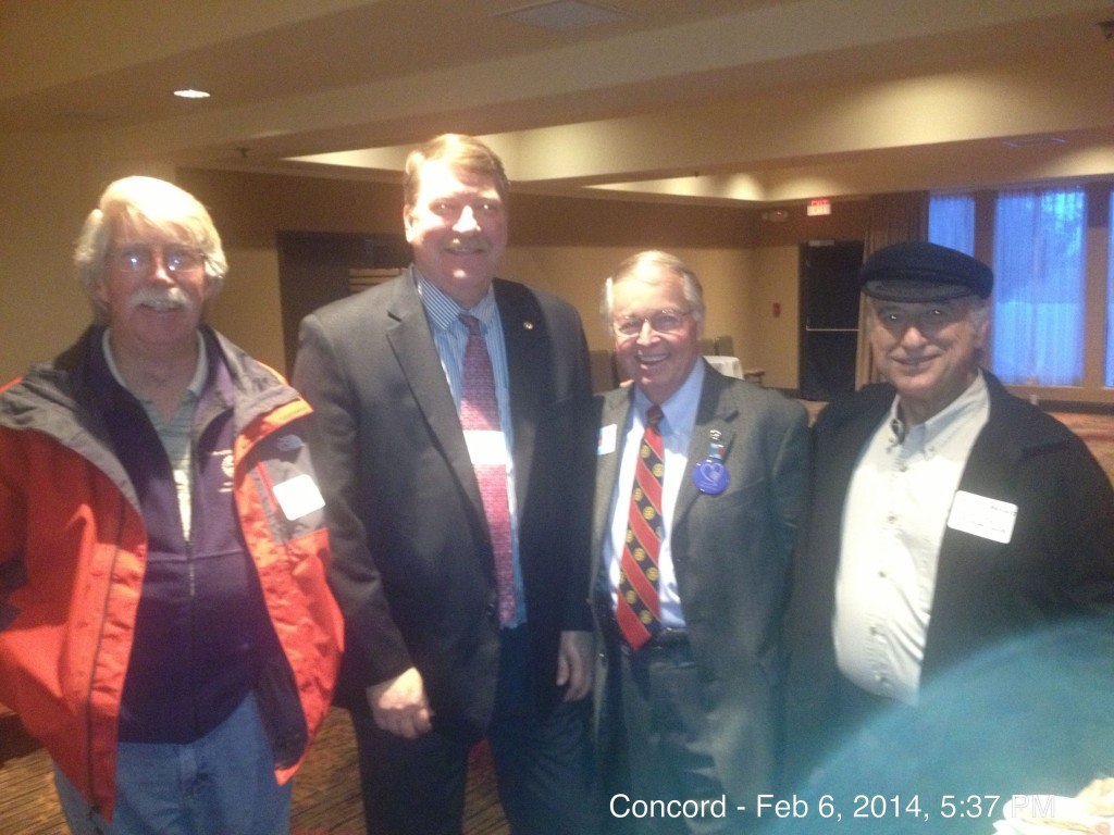 Members of the Concord Club Paul King, Guy Bjerke, Rick Ernst and Chris Moulis enjoy the mixer.